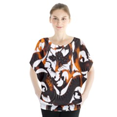 Ornament Dragons Chinese Art Blouse
