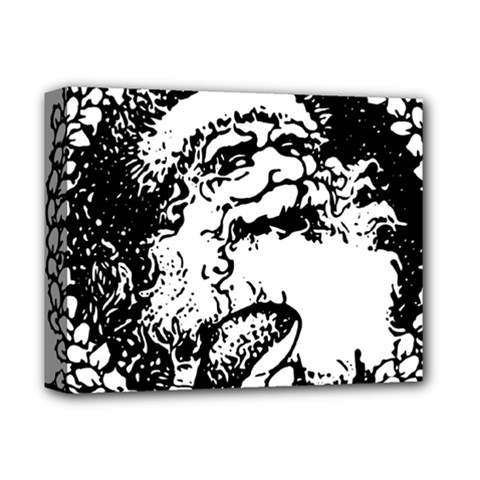 Santa Claus Christmas Holly Deluxe Canvas 14  x 11