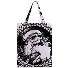 Santa Claus Christmas Holly Zipper Classic Tote Bag