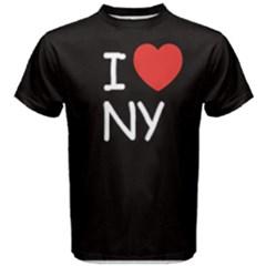 1Black I love new york Men s Cotton Tee