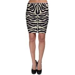 SKN2 BK-MRBL BG-LIN Bodycon Skirt