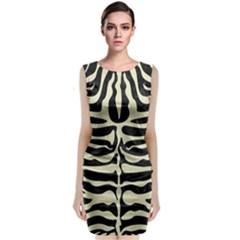 SKN2 BK-MRBL BG-LIN Classic Sleeveless Midi Dress