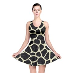 SKN1 BK-MRBL BG-LIN (R) Reversible Skater Dress