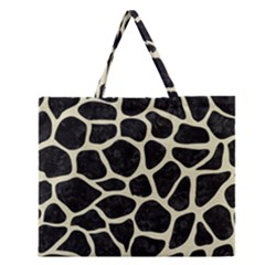 SKN1 BK-MRBL BG-LIN (R) Zipper Large Tote Bag