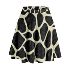 SKN1 BK-MRBL BG-LIN (R) High Waist Skirt