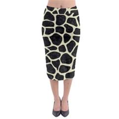 SKN1 BK-MRBL BG-LIN (R) Midi Pencil Skirt