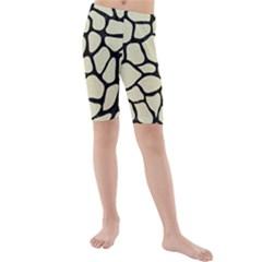 SKN1 BK-MRBL BG-LIN Kids  Mid Length Swim Shorts