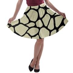 SKN1 BK-MRBL BG-LIN A-line Skater Skirt
