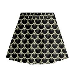 SCA3 BK-MRBL BG-LIN Mini Flare Skirt