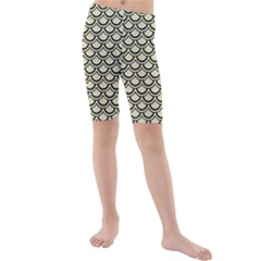 SCA2 BK-MRBL BG-LIN (R) Kids  Mid Length Swim Shorts