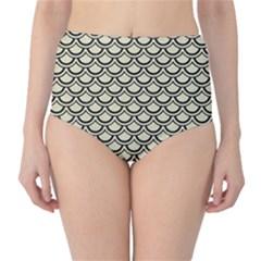 SCA2 BK-MRBL BG-LIN (R) High-Waist Bikini Bottoms