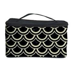 Scales2 Black Marble & Beige Linen Cosmetic Storage Case