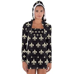 RYL1 BK-MRBL BG-LIN (R) Women s Long Sleeve Hooded T-shirt