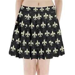 RYL1 BK-MRBL BG-LIN (R) Pleated Mini Skirt