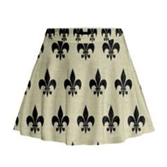 RYL1 BK-MRBL BG-LIN Mini Flare Skirt
