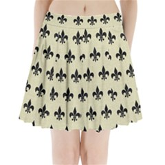 RYL1 BK-MRBL BG-LIN Pleated Mini Skirt