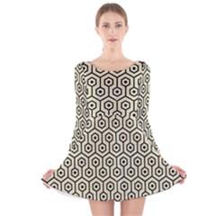 HXG1 BK-MRBL BG-LIN (R) Long Sleeve Velvet Skater Dress