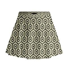 HXG1 BK-MRBL BG-LIN (R) Mini Flare Skirt