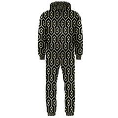 HXG1 BK-MRBL BG-LIN Hooded Jumpsuit (Men)