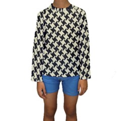 HTH2 BK-MRBL BG-LIN Kids  Long Sleeve Swimwear