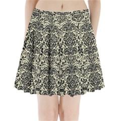 DMS2 BK-MRBL BG-LIN (R) Pleated Mini Skirt