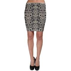 DMS2 BK-MRBL BG-LIN Bodycon Skirt