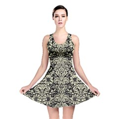 DMS2 BK-MRBL BG-LIN Reversible Skater Dress