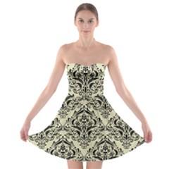 DMS1 BK-MRBL BG-LIN (R) Strapless Bra Top Dress