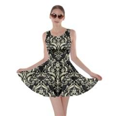 DMS1 BK-MRBL BG-LIN Skater Dress