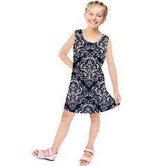 DMS1 BK-MRBL BG-LIN Kids  Tunic Dress