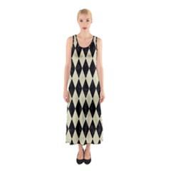 DIA1 BK-MRBL BG-LIN Sleeveless Maxi Dress