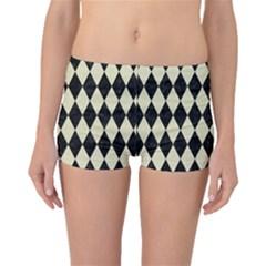 DIA1 BK-MRBL BG-LIN Boyleg Bikini Bottoms