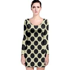 CIR2 BK-MRBL BG-LIN (R) Long Sleeve Velvet Bodycon Dress