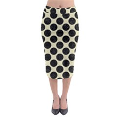 CIR2 BK-MRBL BG-LIN (R) Midi Pencil Skirt