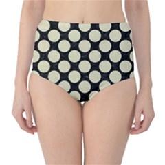 CIR2 BK-MRBL BG-LIN High-Waist Bikini Bottoms