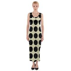 CIR1 BK-MRBL BG-LIN (R) Fitted Maxi Dress