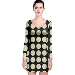 CIR1 BK-MRBL BG-LIN Long Sleeve Velvet Bodycon Dress