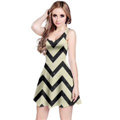 CHV9 BK-MRBL BG-LIN (R) Reversible Sleeveless Dress