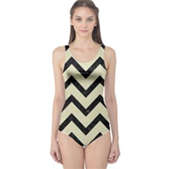 CHV9 BK-MRBL BG-LIN (R) One Piece Swimsuit