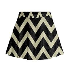 CHV9 BK-MRBL BG-LIN Mini Flare Skirt