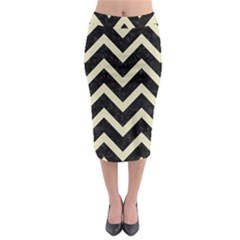 CHV9 BK-MRBL BG-LIN Midi Pencil Skirt