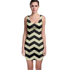 CHV3 BK-MRBL BG-LIN Sleeveless Bodycon Dress