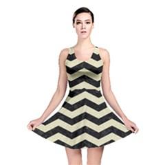CHV3 BK-MRBL BG-LIN Reversible Skater Dress