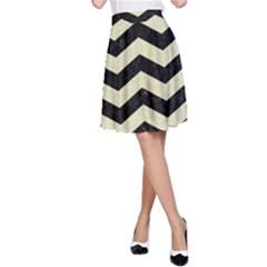 CHV3 BK-MRBL BG-LIN A-Line Skirt