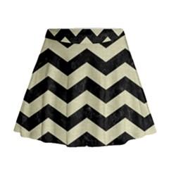 CHV3 BK-MRBL BG-LIN Mini Flare Skirt