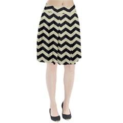 CHV3 BK-MRBL BG-LIN Pleated Skirt