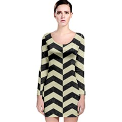 CHV2 BK-MRBL BG-LIN Long Sleeve Velvet Bodycon Dress
