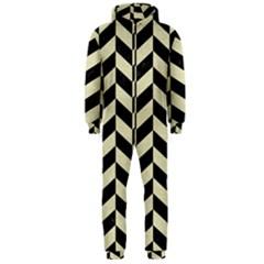 CHV1 BK-MRBL BG-LIN Hooded Jumpsuit (Men)