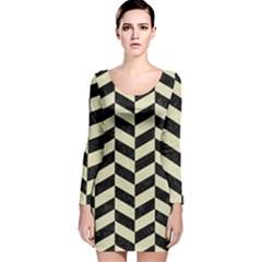 CHV1 BK-MRBL BG-LIN Long Sleeve Velvet Bodycon Dress