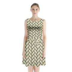 BRK2 BK-MRBL BG-LIN (R) Sleeveless Chiffon Waist Tie Dress